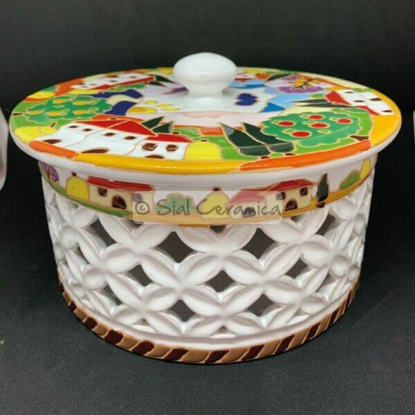 Biscottiera dritta traforata - Sial Ceramica