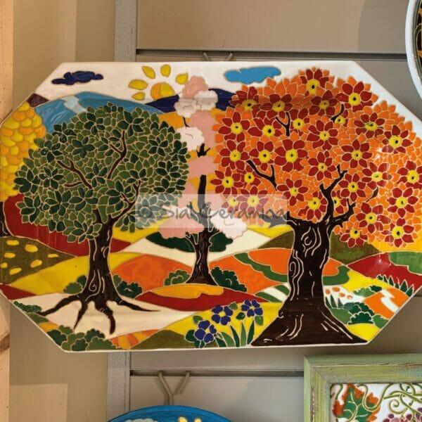 Piatto ottagonale - Sial Ceramica