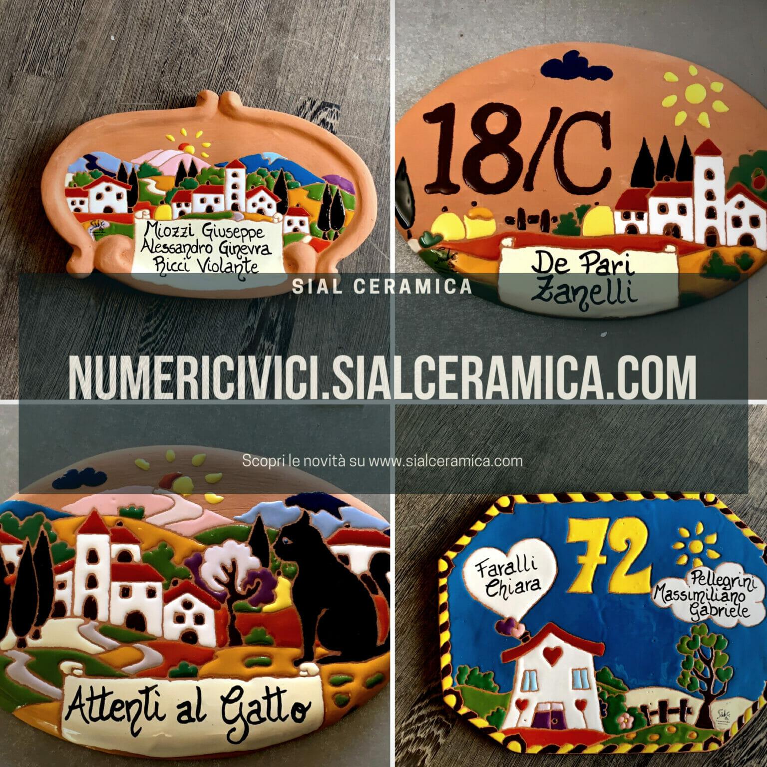 numeri civici - Sial Ceramica
